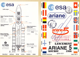 Vol Ariane V501 1er Lancement Ariane5 Echec Au Lanceur Document ESA 04-06-1996 - Europe