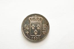 1/4 Franc 1830 W Très RARE Charles X - F. 25 Centimes