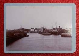 1876-1890 Photo Format Cabinet Harlingen Nederland Pays-Bas Dos Scanné éditeur Non Précisé - Photos
