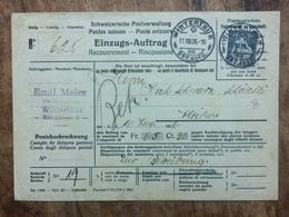 SWITZERLAND 1926 Winterthur Einzugsmandat - Catchment Mandate To Altikon - Suisse