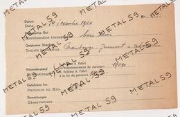 Titre Transport De Bois De Maubeuge à Jeumont Délivré Par L'autorité Allemande, 1940 - Transportation Tickets