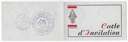 Carte D'invitation 6.5x20.5cm Bal Des Cent Jours  Voir Les Scans, Rare école Ingénieurs Arts Et Métiers Aix-en-provence - Aix En Provence