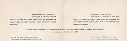 Aix Les Bains (73 Savoie) Faire Part De Mariage  Arnstein/ Van Eck  1955 (PPP18259) - Wedding