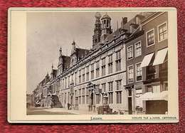 1876-1890 - Photo Format Cabinet Leiden Nederland Pays-Bas Dos Scanné éditeur Uitgave A.Jager Amsterdam - Anciennes (Av. 1900)