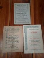 1896 - 3 CATALOGHI ASTA DI ANTIQUARIATO - MOBILIO DI VILLE IN FIRENZE - Mobili