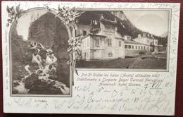 1900 Prè St. Didier Les Bains ( Aosta ) Stabilimento Sorgente Bagni Termali Ferruginosi Arsenicati Hotel Univers - Italia