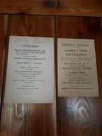 1896 - 2 CATALOGHI ASTA DI ANTIQUARIATO - MOBILIO DI VILLE IN FIRENZE - Mobili