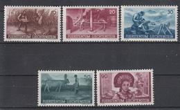 LIECHTENSTEIN - Michel - 1941 - Nr 192/96 - MNH** - Liechtenstein
