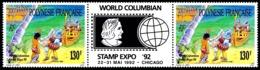 POLYNESIE 1992 - Yv. 409A = 409 En Tryptique **   Faciale= 2,18 EUR - World Columbian Stamp Expo '92  ..Réf.POL24047 - Neufs