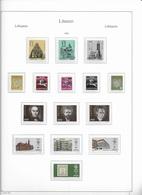 1993 MNH Lituania Year Collection Postfris** - Lituania