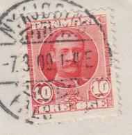 Denmark NYKØBING F. ROKLUB Brotype Ia NYKJØBING FALSTER 1909 Cover Brief Fr. VIII. Stamp ERROR Variety !! - Abarten Und Kuriositäten