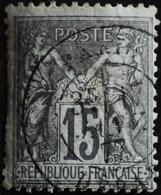 -Sage N°77 Type Ll  .O PARIS  DEPART.17 Janv 1877. - 1876-1898 Sage (Type II)