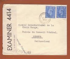 Lettre De Londres 23.12.1942 ->CICR Genève - Zensur/censored/Censure OBE 4414 + OKW X - Militaria