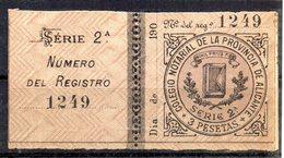 Viñeta Colegio Notarial Provincia De Alicante. 3 Pts - Espagne