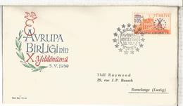 TURQUIA FDC 1959 - 1921-... República