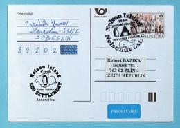 Czech Republic Antarctic Post Card 1999 Nelson Islands - Antarctic Expeditions