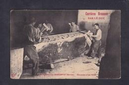 Rare Carte Des Carrieres Brasseur Bar Le Duc - Savonnieres En Perthois (55) Ebauche D'un Bloc ( Travail Pierre Carrier ) - France