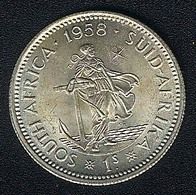 Südafrika, 1 Shilling 1958, Silber, UNC - South Africa