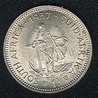 Südafrika, 1 Shilling 1957, Silber, UNC - South Africa
