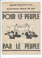 Politique Elections 1936 Manifeste Croix De Feu. Pour Le Peuple Par Le Peuple TB 27 X 20 Cm 16 Pages - Documents Historiques