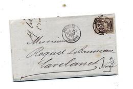 Lettre Cachet Bordeaux Sue Sage + Toulouse Lavelanet - 1877-1920: Période Semi Moderne