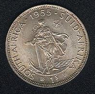 Südafrika, 1 Shilling 1955, Silber, UNC - South Africa