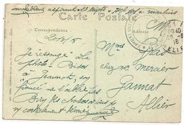 """MOULINS . LE KIOSQUE A MUSIQUE + CACHET """" HOPITAL TEMPORAIRE N° 29 . MOULINS """" DU 20-3-1918 . 2 SCANES - Moulins"""