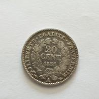 20 Centimes 1851 A Cérès Argent - France