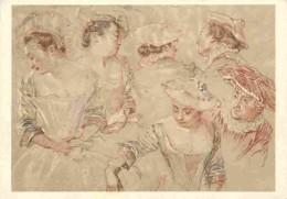 Art - Peinture - Antoine Watteau - Feuille D'études - Carte Neuve - Musée Du Louvre - Voir Scans Recto-Verso - Paintings