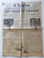 1934 Journal L'AUTO - Henri DESGRANGE - 28 E TOUR DE FRANCE--VICTOIRE ANTONIN Magne.- GÉO HAM - Journaux - Quotidiens