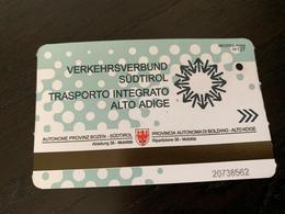 Ticket De Bus Sud Tirol, Autriche, Italie - Europa