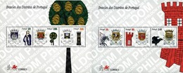 Ref. 88393 * MNH * - PORTUGAL. 1997. SHIELDS FROM PORTUGUESE DISTRICS . ESCUDOS DE DISTRITOS PORTUGUESES. - Briefmarken