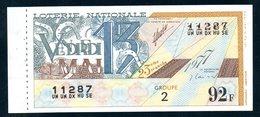 LOTERIE NATIONALE 1977 - TRANCHE N° 23 = VENDREDI 13 / BILLET ENTIER SUPERBE Complet De Sa Souche VOIR  2 SCAN - Billets De Loterie