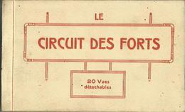 CARNET Complet De 20 Cartes Postales Anciennes LE CIRCUIT DES FORTS. - France