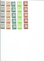 OCB R28, R31, R33, R38 En R42 Postfris ¨¨  Strook Van 5  Met Nummer - 1953-1972 Brillen