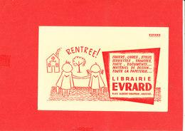 BUVARD AMIENS Librairie EVRARD Rue Alfred Dauphin Format 21 Cm X 13.5 Cm - Blotters