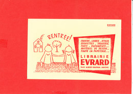 BUVARD AMIENS Librairie EVRARD Rue Alfred Dauphin Format 21 Cm X 13.5 Cm - Buvards, Protège-cahiers Illustrés