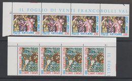 Vatican City 1980 Omnes Sancti 2v Strip Of 4 ** Mnh (42716C) - Ongebruikt