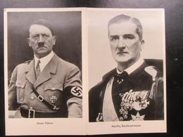 Postkarte Hitler Und Horthy - Weltkrieg 1939-45