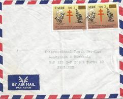 DRC RDC Zaire 1980 Kinshasa Robert Koch Tuberculose 100Z Overprint Nobel Prize Medicine Cover - Nobelprijs