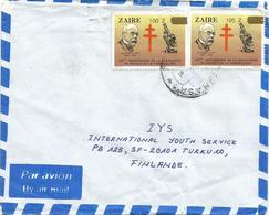 DRC RDC Zaire 1980 Kinshasa Robert Koch Tuberculose 100Z Overprint Nobel Prize Medicine Cover - Enfermedades