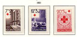 PIA - FINLANDIA  - 1951 : Pro Croce Rossa - Donatori Di Sangue  - (Yv 375-77) - Primo Soccorso