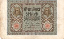 Billet De Banque Allemagne 100 Marks 1920 - [ 3] 1918-1933 : Repubblica  Di Weimar