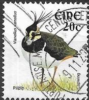 IRELAND 2002 New Currency Birds - 20c - Northern Lapwing (Lapwing) FU - 1949-... Republic Of Ireland