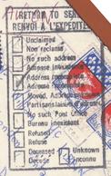 Lettre (carte De Visite) Par Avion  Obl. Bischwiller 07.12.1965 -> London (Ontario) Canada - Cachet De Retour - Marcophilie (Lettres)