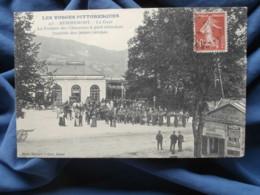 Remiremont  Gare  Fanfare Des Chasseurs à Pied Attendant Les Jeunes Recrues  N° 415  Circulée 1911 - R288 - Remiremont