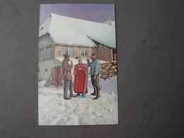 Künstler AK  Bauern  Romantik ,Winter , Photochromi  W.Gering Darmstadt - Bauernhöfe