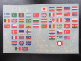 Postkarte Olympiade 1936 - Briefe U. Dokumente