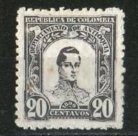 1899 Général Cordoba 20c Violet Noir N°107  Light Thinning - Colombie