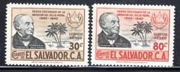 SALVADOR - PA N°64/5 ** (1940) Centenaire Du Timbre - El Salvador
